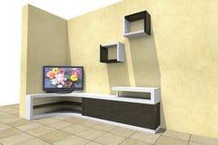 3D televisie Stock Foto's