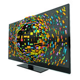 3D Television Concept Isolated Stock Photo