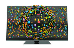 3D Television Concept Isolated Stock Images