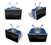 3D Television, a monitor icon. 3D Icon Design Series. Stock Photo