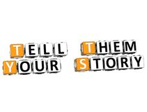 3D Tell Them Your Story. On white background Royalty Free Stock Images