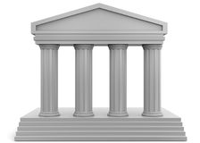 3D tempel - vector illustratie