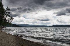D tempestuoso Alene de Coeur del lago Fotografía de archivo