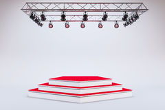 3d template of empty podium stage. 3d template of blank empty podium stage Royalty Free Stock Photos
