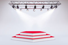 3d template of empty podium stage. 3d template of blank empty podium stage Royalty Free Stock Images