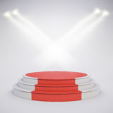 3d template of empty podium stage. 3d template of blank empty podium stage Royalty Free Stock Photography