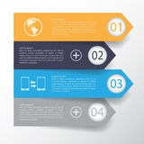 3d template Minimal arrow sign infographics used for web design. 3d Minimal arrow sign infographics. Vector eps10 Royalty Free Stock Image