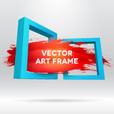 3D template with out of frame brush stroke Stock Photos