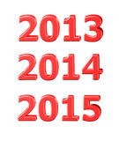 3D templates of 2013, 2014, 2015. Years writing vector illustration