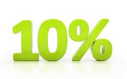 3D ten percent isolated. Ten percent off. Discount 10. 3D illustration Stock Images