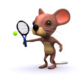 3d Tennis mouse Royalty Free Stock Image