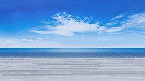 3d terrace sea view Stock Photography