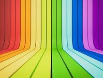 3d teruggegeven, abstracte regenboog Stock Afbeelding