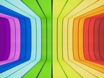 3d teruggegeven, abstracte regenboog Stock Foto's