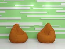 3D teruggegeven Binnenland Stock Fotografie