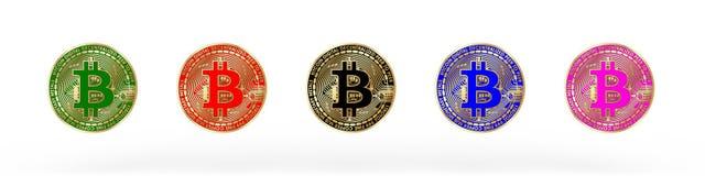 3D teruggegeven Bitcoin-illustratie vector illustratie