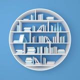 3d teruggegeven boekenrekken Royalty-vrije Stock Afbeelding