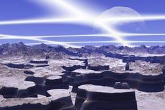 3d teruggegeven fantasie vreemde planeet Royalty-vrije Stock Afbeeldingen