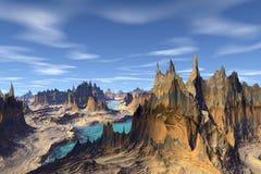 3d teruggegeven fantasie vreemde planeet Royalty-vrije Stock Foto