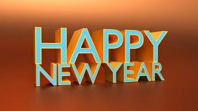 3d teruggegeven gelukkige Nieuwe jaartekst Stock Foto's