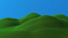 3D teruggegeven groene heuvels Stock Afbeelding