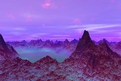 3D teruggegeven Illustratie van een Vreemde Worldr stock illustratie