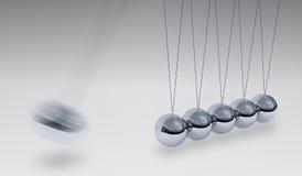 3D teruggegeven illustratie van Newtons-wieg - in evenwicht brengende ballen Royalty-vrije Stock Afbeeldingen