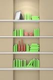 3d teruggegeven modern boekenrek Stock Foto