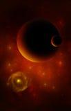 3d teruggegeven Ruimtekunst: Vreemde planeten en sterren vector illustratie