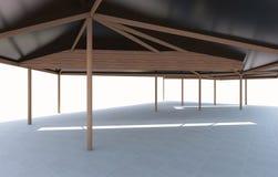 3D teruggegeven van Futuristische architectuur Royalty-vrije Stock Fotografie