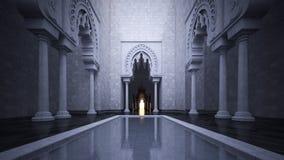 3d teruggevend beeld van moderne Islamitische stijl Royalty-vrije Stock Afbeelding