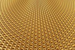 3d teruggevend conceptontwerp van het gouden glanzende geklets van de metaalpiramide Royalty-vrije Stock Fotografie