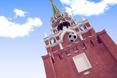 3d teruggevend de voetbalbal dichtbij Moskou het Kremlin Royalty-vrije Stock Afbeelding