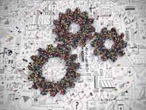 3D Teruggevend het groepswerksysteem van het toestelconcept Royalty-vrije Stock Foto's