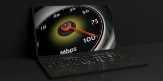 3d teruggevend Internet-snelheidsconcept stock illustratie