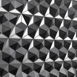 3d teruggevend laag poly veelhoekig oppervlaktegrijs Stock Fotografie