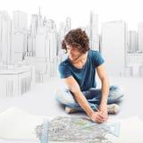 3D Teruggevend ontwerp van een architectuurproject Stock Afbeeldingen