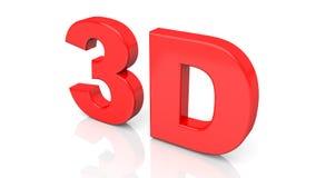 3D teruggevend rood die 3D woord op witte achtergrond wordt geïsoleerd Stock Foto's