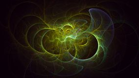3D teruggevend samenvatting geïsoleerd fractal licht op zwarte achtergrond royalty-vrije stock foto's