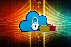 3d teruggevend Wolk gegevensverwerkingsconcept, wolkennetwerk Stock Foto's