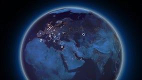 3D Teruggevende aardeanimatie royalty-vrije illustratie