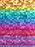 3D teruggevende abstracte achtergrond kleurrijke kubussenmuur royalty-vrije illustratie
