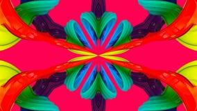 3d teruggevende abstracte achtergrond met vlot abstract suikergoed vector illustratie