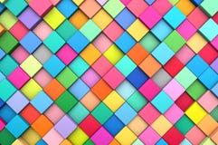 3D teruggevende abstracte achtergrond van multi-colored kubussen Royalty-vrije Stock Foto