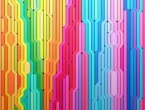 3D teruggevende abstracte achtergrond van multi-colored lijnenvormen vector illustratie