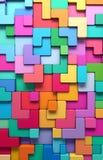 3D teruggevende abstracte achtergrond van multi-colored rond gemaakte vormen Royalty-vrije Stock Afbeelding
