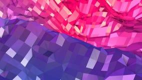 3d teruggevende abstracte geometrische achtergrond met moderne gradiëntkleuren in lage polystijl 3d oppervlakte met blauw rood royalty-vrije illustratie