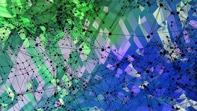 3d teruggevende abstracte geometrische achtergrond met moderne gradiëntkleuren in lage polystijl 3d oppervlakte met groenachtig b vector illustratie