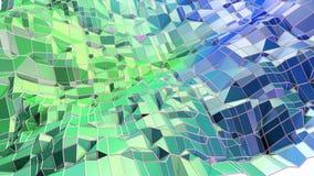 3d teruggevende abstracte geometrische achtergrond met moderne gradiëntkleuren in lage polystijl 3d oppervlakte met groenachtig b stock illustratie
