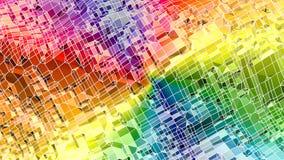 3d teruggevende abstracte geometrische achtergrond met moderne gradiëntkleuren in lage polystijl 3d oppervlakte met multi-colored vector illustratie